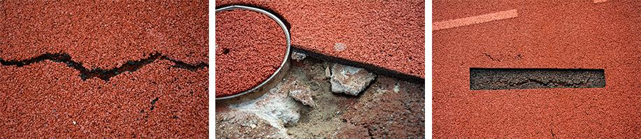 Sandmaster repariert Kunststoffböden