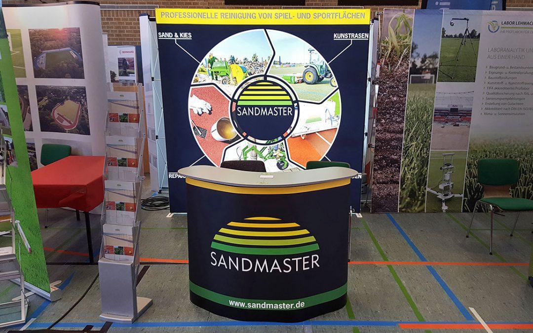 Sandmaster Aussteller bei 7. sportinfra 2018 in Frankfurt