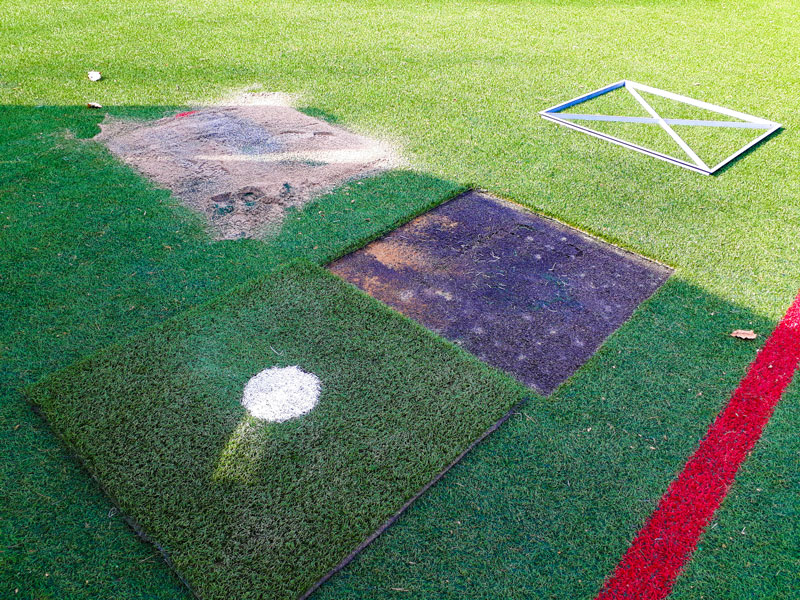 Additional services and repairs of artificial turf