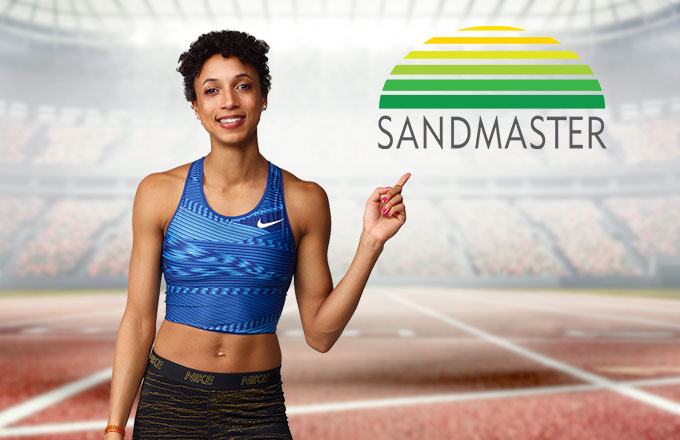 Malaika Mihambo, brand ambassador of Sandmaster