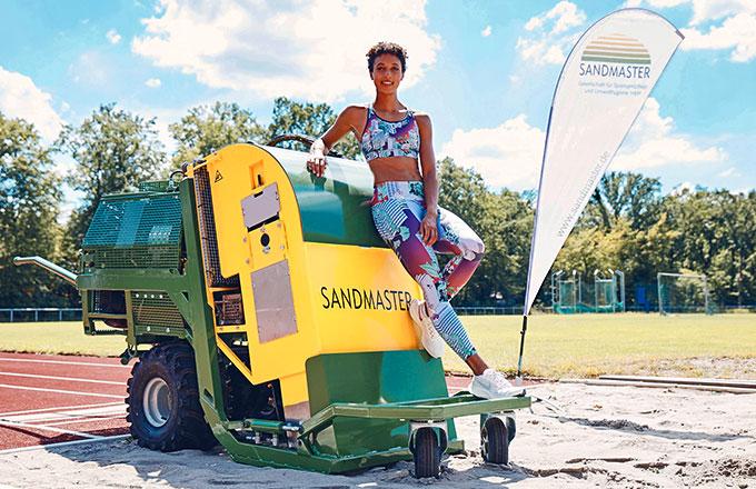 Malika Mihambo ist Markenbotschafterin von Sandmaster