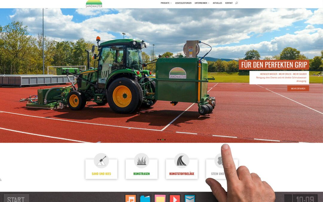 Sandmaster ist online mit neuer Webseite