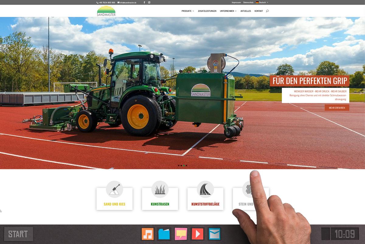 Die neue Webseite von Sandmaster ist online